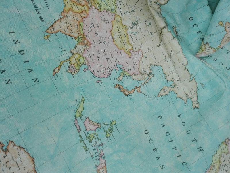 Loneta mapamundi ancho 2,80
