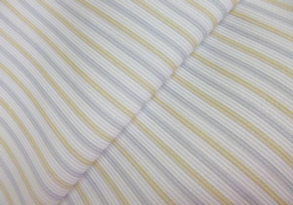 Piqué rayas BEIGE Y GRIS 100%algodón