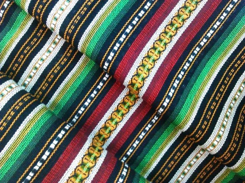 Alpujarreña de rayas  VERDES Y ROJOS ancho 1,60