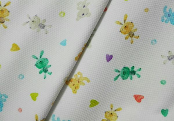 Piqué Ositos y Conejitos de colores 100%algodón