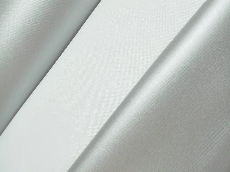 Foscurit oscurante PVC PLATA/BLANCO ancho 1,50